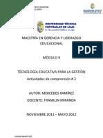 Tecnología Educativa para la Gestión II