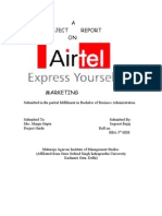 12088786 Project Report on Airtel