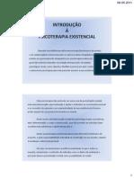 Introdução á psicoterapia existencial - powerpoint