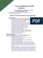 Bill Heidrick - Tarot Meditations