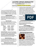 March 2012 Goodwin Library Newsletter