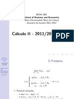 Slides Cálculo II 2011 2012