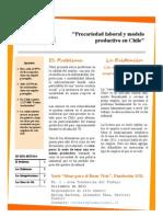 Precariedad Laboral y Modelo Productivo en Chile