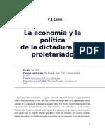 V.I. Lenin - La Economía y la Política de la Dictadura del Proletariado