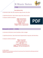Gcse Ocr Music Notes - New Syllabus