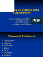 Physiologic Monitoring of the Surgical Patient