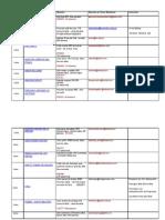 Colegios Particulares Tabla de Correspond en CIA LIMA