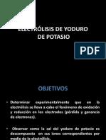 ELECTRÓLISIS YODURO DE POTASIO