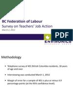 BC Federation of Labour Survey on Teachers' Job Action - March 2, 2012