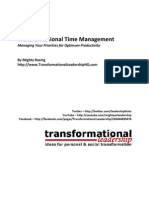 Transformational Time Management