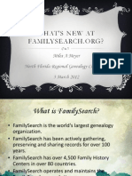 Whats New at Family Search