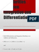 Simillarities Between Integration and Differentiation