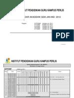 Kalendar Akademik Pelaksanaan Kurikulum Sem Jan-Mei 2012 Terkini