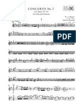 Mozart - Violin Concerto No 3