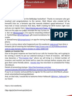 London Silicon Roundabout Weekly Newsletter 02-Mar-2012