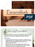 Pananaliksik for Mr. Tiongson