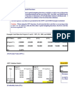 Capital Budgeting Template