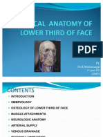 Surgical Anatomy of Lower Third of Face