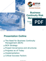 Business Continuity Risk Management