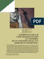 González Sánchez y Duque Quintero - 2008 - Subsistencia de las comunidades locales en Colombi