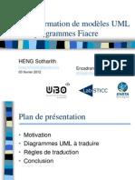 Transformation UML to Fiacre Slide