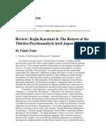 Review- Kojin Karatani & the Return of the Thirties-Psychoanalysis in:Of Japa