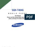 TRK SGH-T404G English User Manual