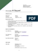 Ahmad Al-Sayyed CV