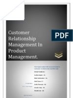 Customer Relationship Management in Product Management