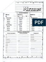 Mythus Character Sheets 001