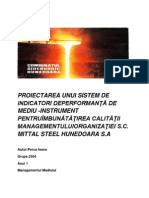 Evaluare de mediu Mittal Steel