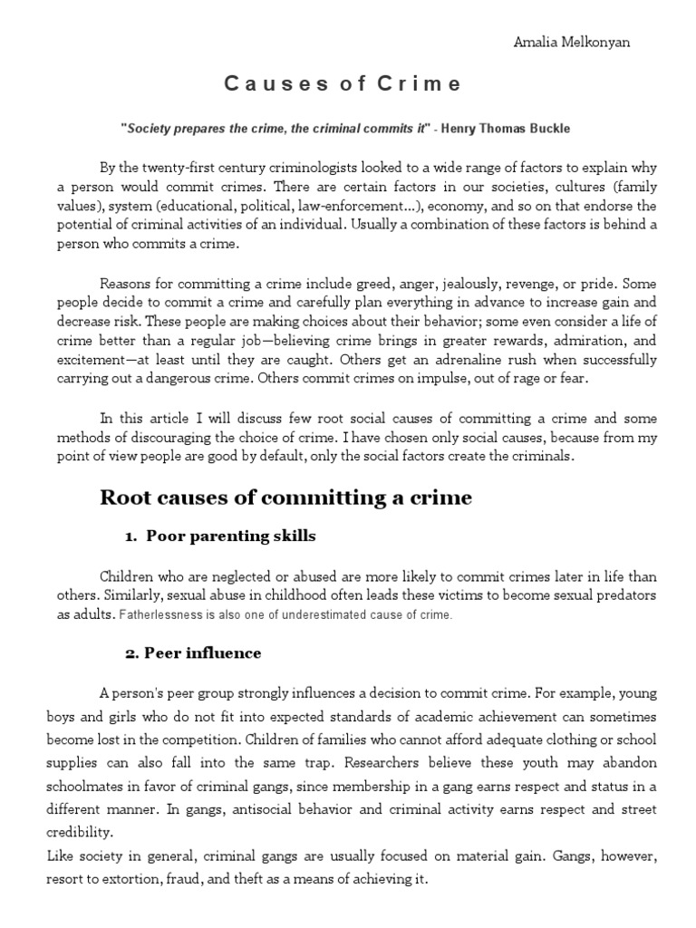 an analysis of human personality and behavior in committing crimes Criminal profiling from crime scene analysis john e this approach is that behavior reflects personality  the type of person who committed the crime.