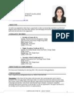 Curriculum Vitae-sadia Tasnim