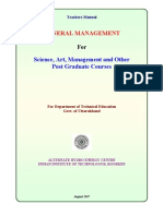 Teachers Manual for Management Concept and Practices Master Level