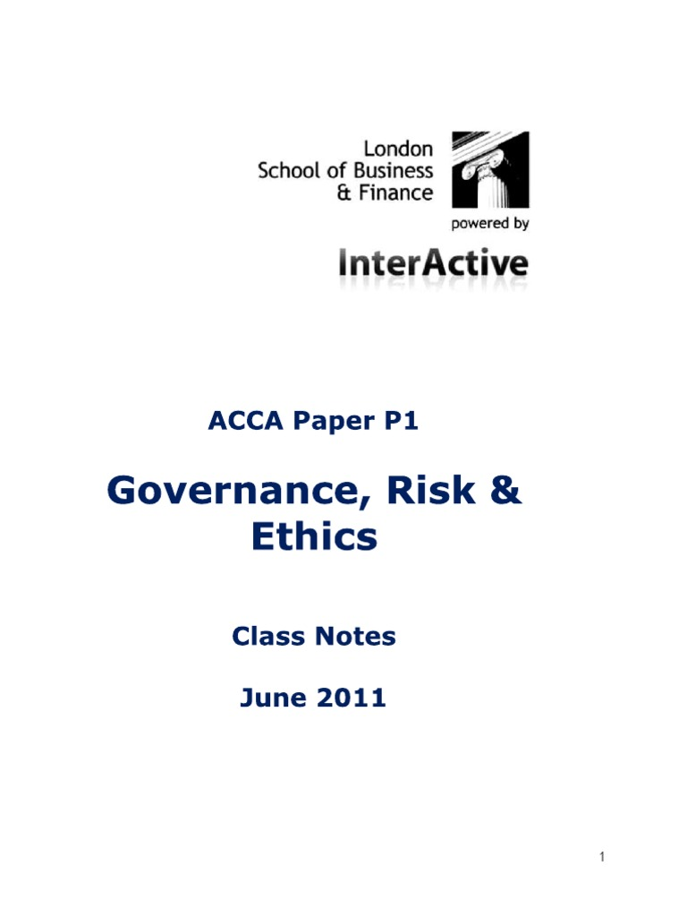 ACCA P1 Notes (598 views)