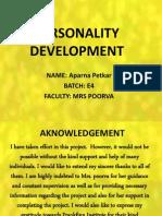 Personality Development........Aparna