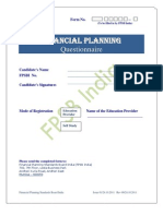 Questionnaire - Financial Planning