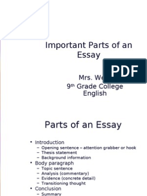 Autobiography Essay Format  Essay On Health Care also How To Write Science Essay Parts Of An Essay Updated  Essays  Thesis Sample High School Essay