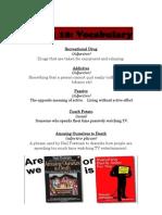 Week 10 Vocabulary