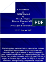 Presentation Analyst Conference