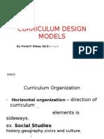 Curriculum Design Models