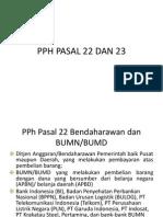 Pph Pasal 22 Dan 23, Terbaru
