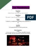 Week 12 Vocabulary