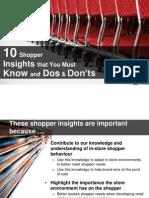 Shopper Behaviour - Shopper Insights