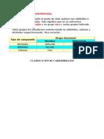 Clasificación de carbohidratos