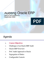 T3 - Auditing Oracle Financials 11i - Part 1