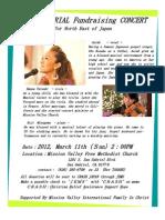 3.11Memorial Fund Rasing Concert - English