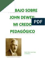 TRABAJO SOBRE JOHN DEWEY, MI CREDO PEDAGÓGICO