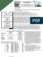 St. Joseph's March 4, 2012 Bulletin