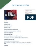 FDI in Retail Sector in Final)